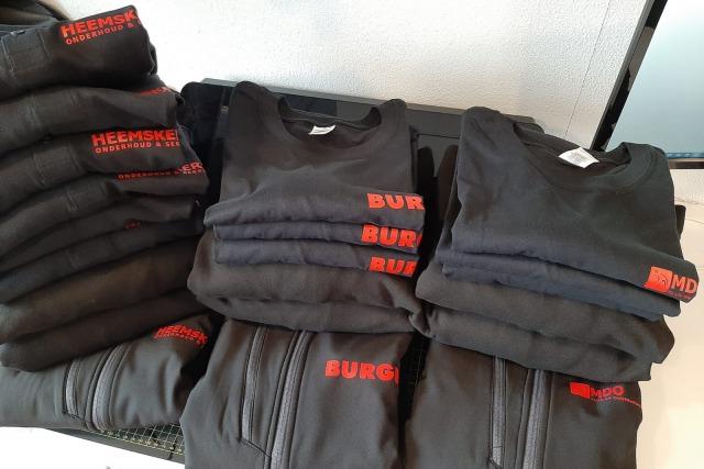 Bedrukte kleding Heemskerk / Burgie / MDO