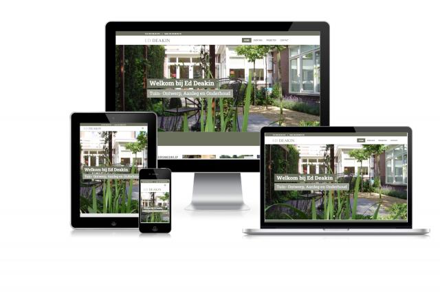 Nieuwe website voor Hoveniersbedrijf Ed Deakin